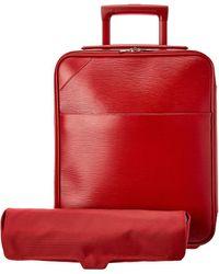 Louis Vuitton Red Epi Leather Pegase 45