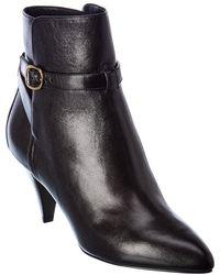 Celine Leather Bootie - Black