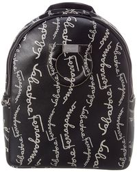 Ferragamo City Leather Backpack - Black