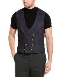 Brunello Cucinelli Wool Suit Vest - Blue