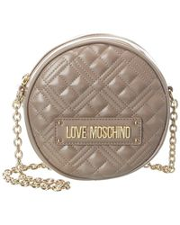 Love Moschino Quilted Crossbody - Grey