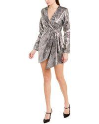 Ronny Kobo Jerry Metallic Long Sleeve Mini Dress