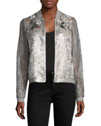 T Tahari - Fatima Floral Jacket - Lyst