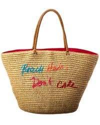 Rebecca Minkoff Beach Hair Don't Care Straw Tote - Brown