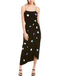 10 Crosby Derek Lam Sarong Silk-blend Maxi Dress - Black