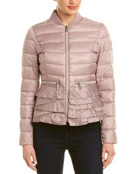 Tahari Ruffled Bomber Jacket - Purple