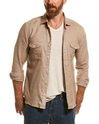 Reiss Duke Natural Overshirt - Brown