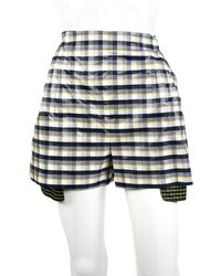 Dior 2016 Plaid Gingham Silk Short, Size 6, New With Tags - Multicolour