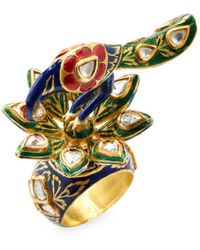 Amrapali - Peacock Ring With Diamond - Lyst