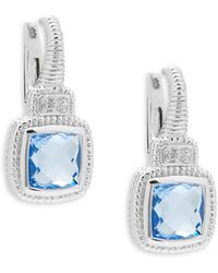 Judith Ripka - Sapphire & Blue Quartz Drop Earrings - Lyst