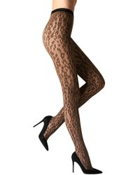 Fogal Cleopatra Embroidered Pantyhose - Multicolour