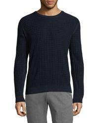 J.Lindeberg - Hunt Wave Structure Cotton Sweater - Lyst
