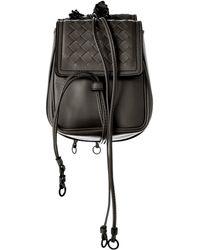 Bottega Veneta Intrecciato Nappa Leather Shoulder Bag - Black