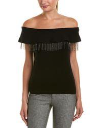 Elie Tahari Wool-blend Top - Black