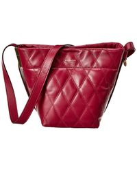 Givenchy Gv Mini Quilted Leather Bucket Bag - Red