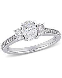Rina Limor 14k 1.10 Ct. Tw. Diamond Engagement Ring - Metallic