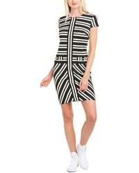 Karl Lagerfeld Striped Shift Dress - Black
