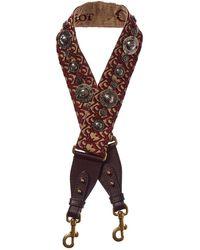 Dior Oblique Canvas & Leather Shoulder Strap - Brown