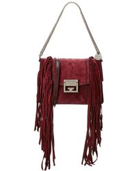Givenchy Gv3 Fringe Small Suede Crossbody - Multicolor