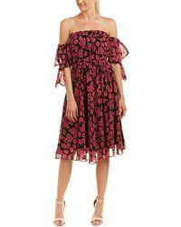 MILLY Zoey Midi Dress - Pink