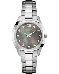 Bulova - Women's Stainless Steel Watch - Lyst