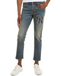 Gucci Ny Yankee Blue Straight Leg