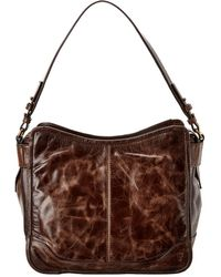 Frye Mel Leather Hobo Bag - Brown