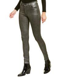 J Brand Maria Silver Lament High-rise Skinny Leg Jean - Metallic