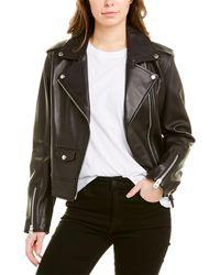 Mackage Classic Leather Moto Jacket - Black