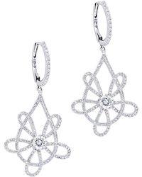Diana M. Jewels - . Fine Jewelry 18k 1.44 Ct. Tw. Diamond Earrings - Lyst