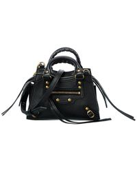 Balenciaga Neo Classic Mini Leather Shoulder Bag - Black