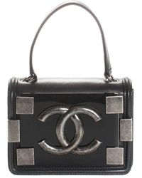 Chanel Limited Edition Black Quilted Lambskin Leather & Plexiglass Flap Bag, Never Carried