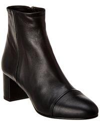 Theory Mo Leather Bootie - Black
