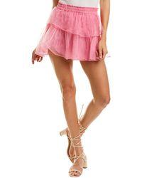 LoveShackFancy Ruffle Mini Skirt - Pink