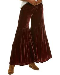 Johnny Was Spark Silk-blend Pant - Brown