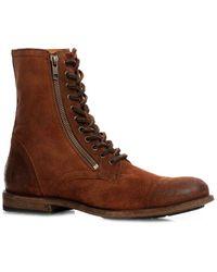 Frye Tyler Double Zip Leather Boot - Brown