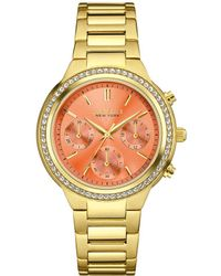 Caravelle NY Caravelle New York Crystal Chronograph Watch - Metallic
