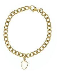 Adornia 14k Over Silver 2.00 Ct. Tw. Moonstone Curb Chain Bracelet - Metallic