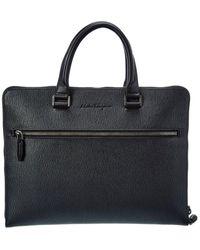 Ferragamo Leather Briefcase - Black
