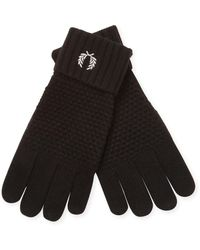 Fred Perry Pique Ribbed Gloves - Black