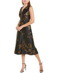 ESCADA Demmiwa Silk-blend Midi Dress - Black