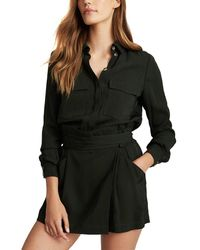 Reiss May Utility Playsuit - Black