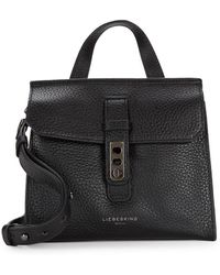 Liebeskind Berlin Textured Leather Crossbody Bag - Black