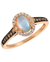 Le Vian ? 14k Rose Gold 0.63 Ct. Tw. Diamond & Opal Ring - Metallic