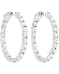 Diana M. Jewels . Fine Jewelry 18k 7.20 Ct. Tw. Diamond Hoops - Multicolor