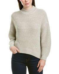 Splendid Metallic Pullover - White