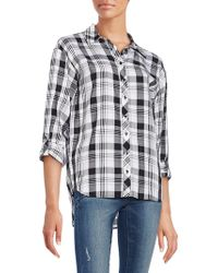 Kensie - Relaxed-fit Plaid Shirt - Lyst