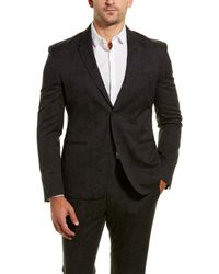 Versace 2pc Wool-blend Suit With Flat Pant - Black