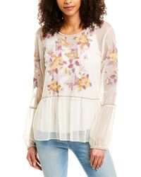 Johnny Was Skyler Embroidered Mesh Top - White