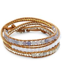 Chan Luu - Multi-stone & Leather Wrap Bracelet - Lyst